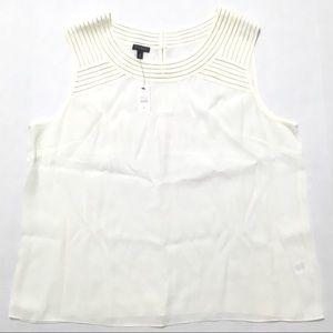NWT Talbots crepe sleeveless blouse top 18 2X